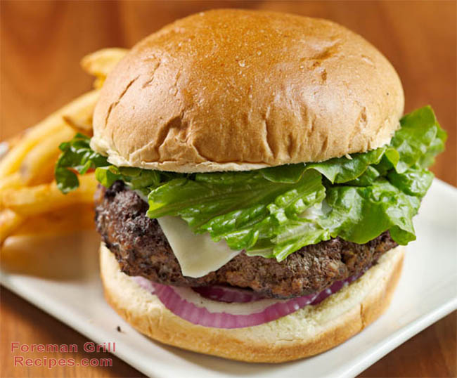 Easy George Foreman Grill Beef Burger Recipe