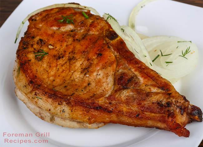Coriander Crusted Pork Chops Recipe