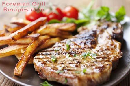 Easy Foreman Grill BBQ Pork Chops Recipe