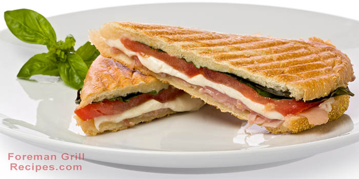 New Prosciutto, Mozzarella and Basil Panini - Foreman Grill Recipes #AW14