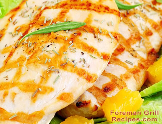 Easy Citrus Grilled Chicken Breast - Foreman Grill Recipes