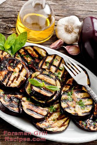 Foreman Grill Garlic Mint Eggplant Recipe