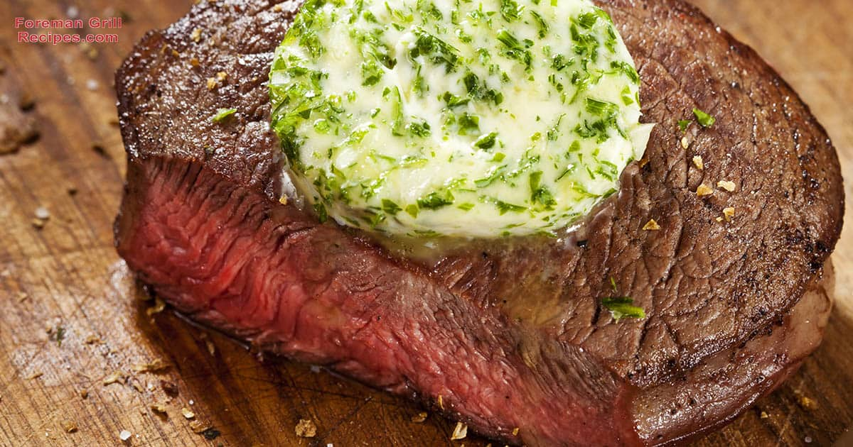 Easy Grilled Beef Steak with Garlic Butter Recipe