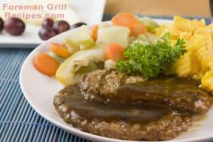 Foreman Grill Salisbury Steak