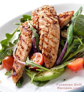 Spicy Grilled Chicken Tenderloin Salad
