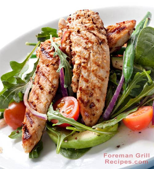 Spicy Grilled Chicken Tenderloin Salad Recipe