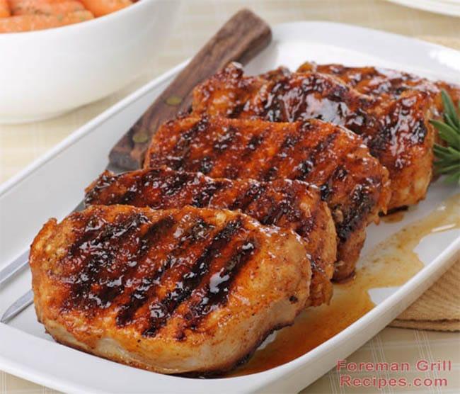 Easy Honey Glazed Pork Chops Foreman Grill Recipes