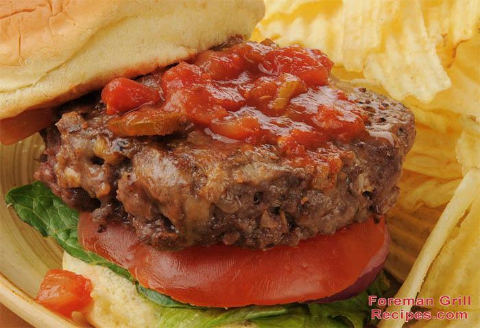 Stuffed Salsa Burgers Recipe