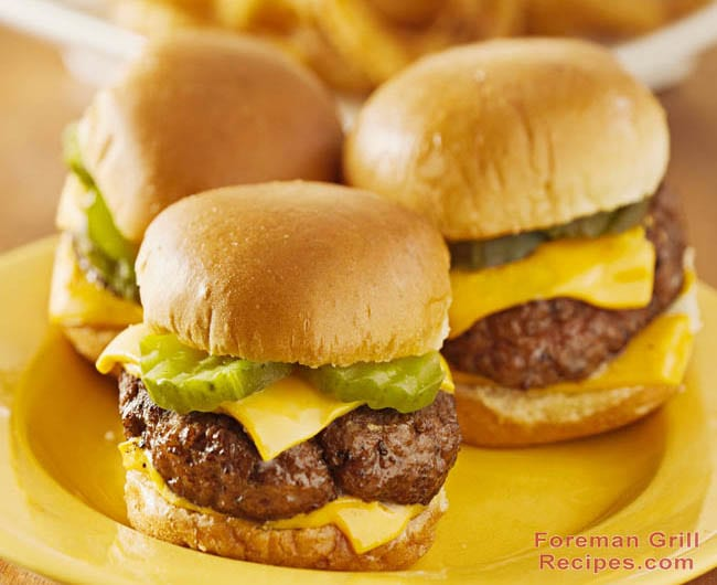 Easy Foreman Grill Sliders Recipe