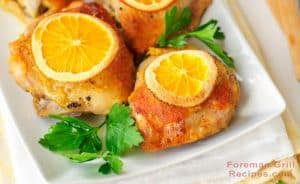 Grilled Orange Chicken Foreman Grill