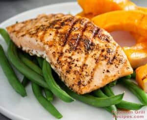 Blacknened Salmon With Foreman Grill