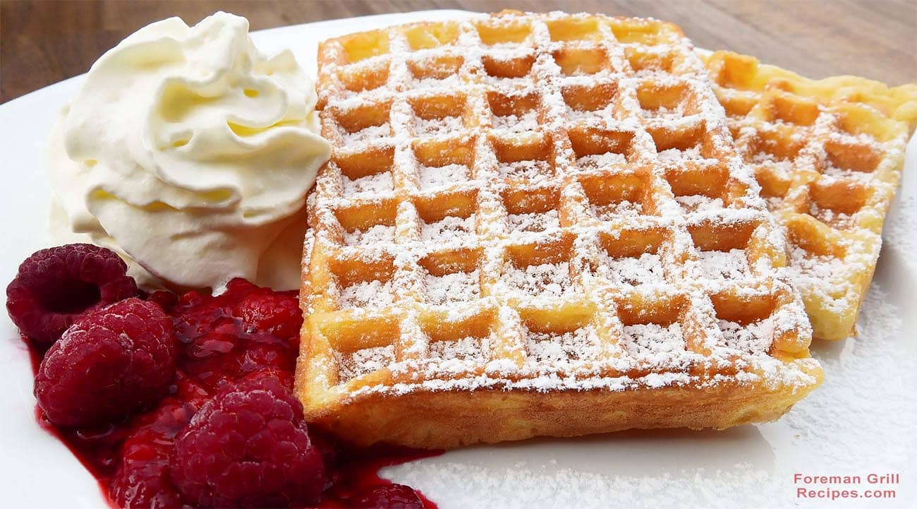 Waffles on a Foreman Grill Recipe