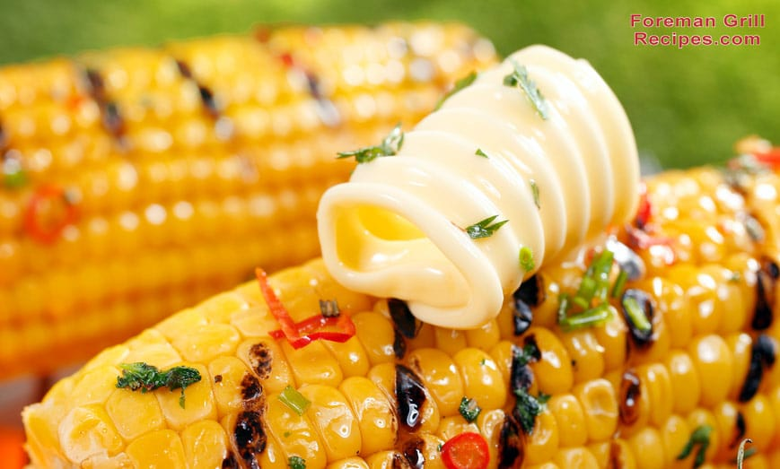 Grilled Corn on a Foreman Grill Recipe