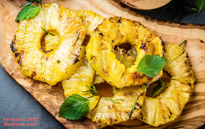 Grilled Pineapple on a Foreman Grill Recipe
