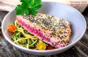 Foreman Grill Grilled Tuna