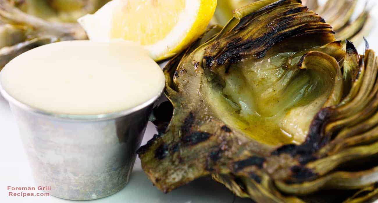 Grilled Artichokes with Tangy Dipping Sauce Recipe