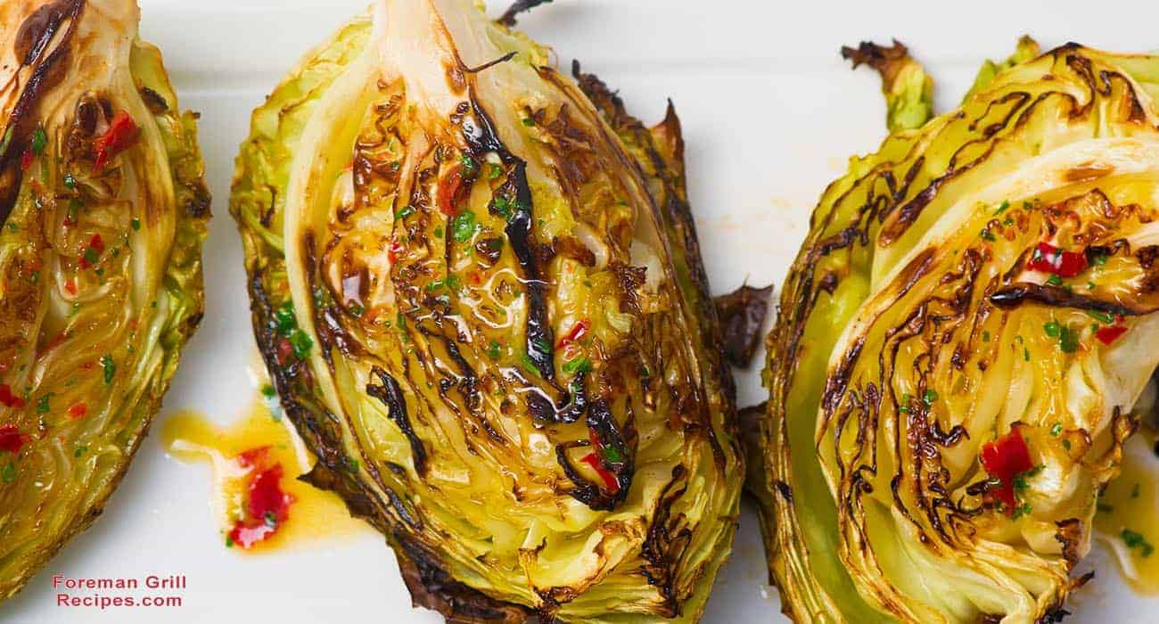Grilled Cabbage with Asian Inspired Glaze Recipe