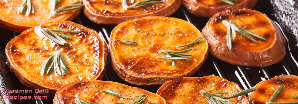 Foreman Grill Thanksgiving Grilled Sweet Potatoes