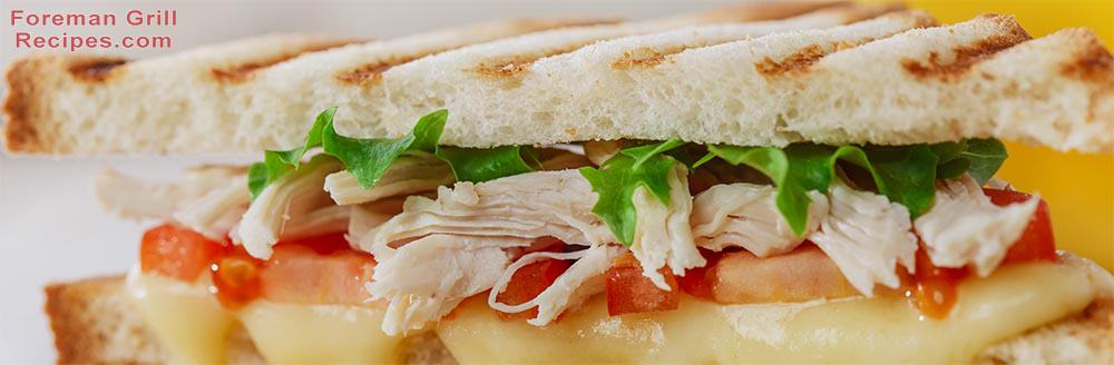 Foreman Grill Thanksgiving Turkey Panini