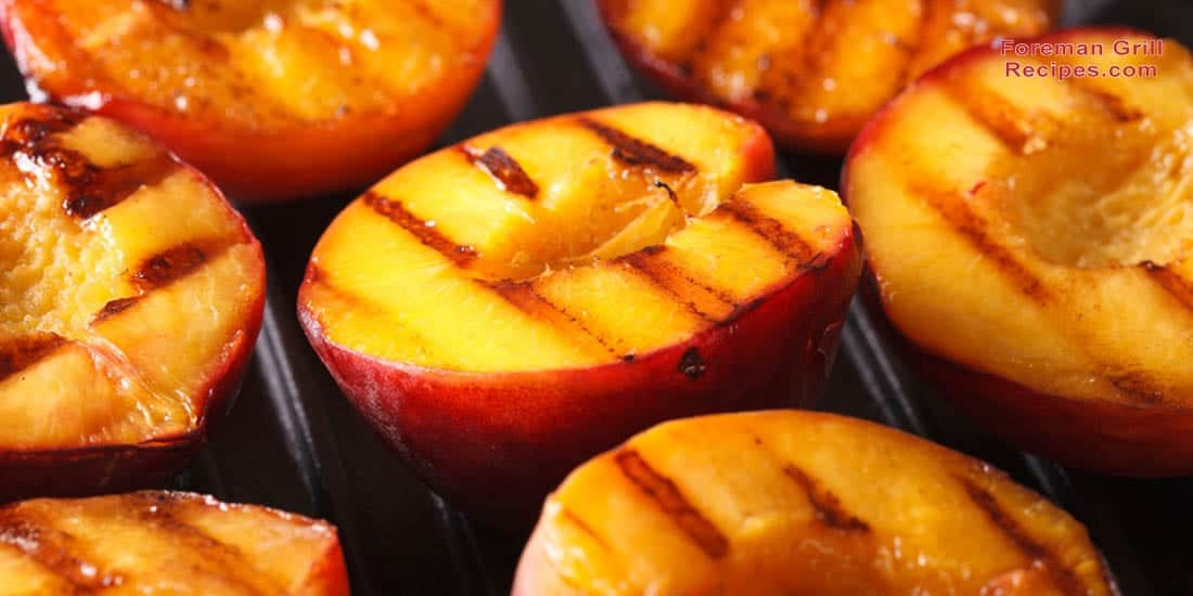 Grilled Peaches on Foreman Grill Recipe