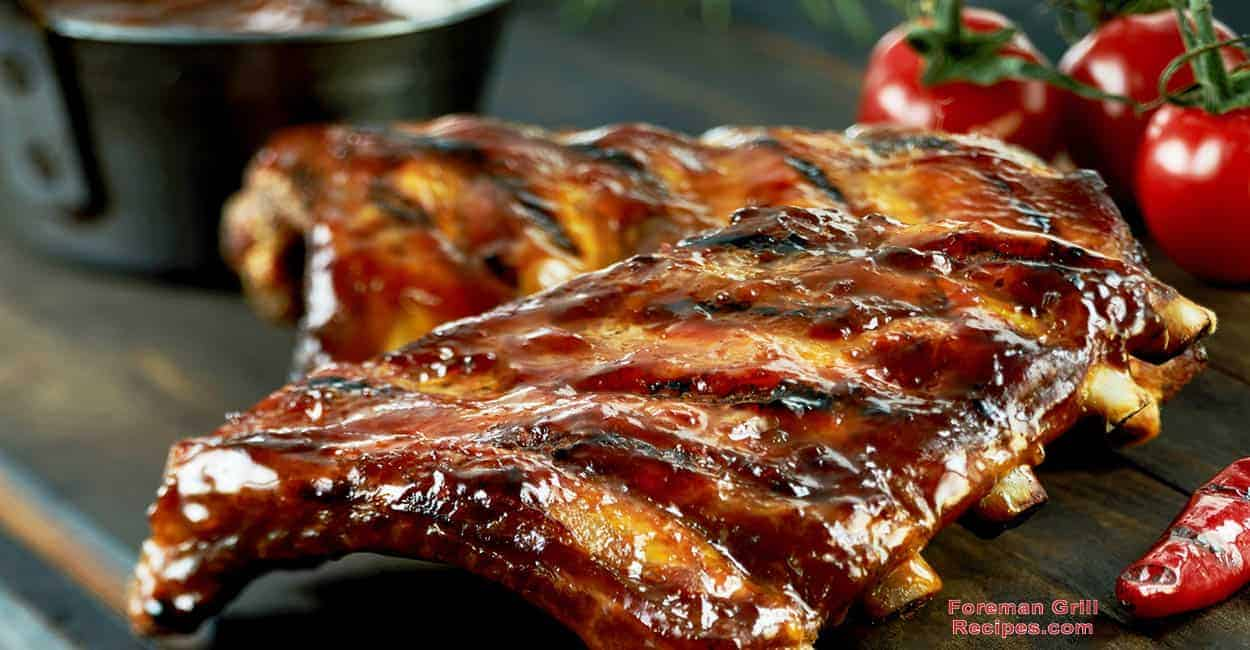 Glazed Pork Ribs on a George Foreman Grill Recipe