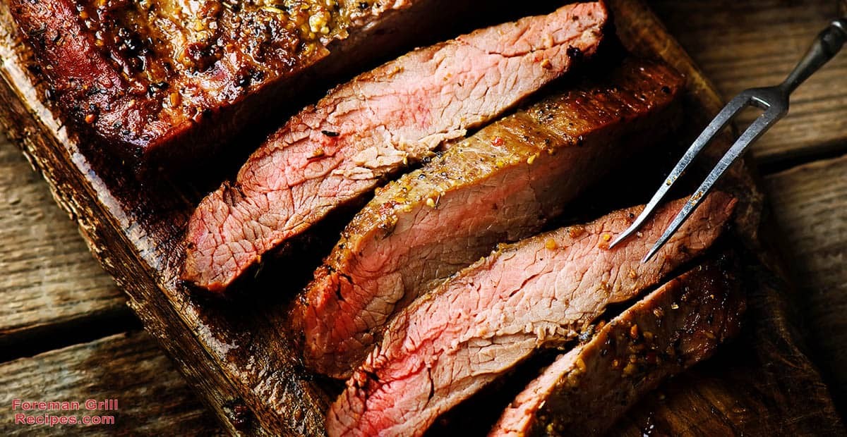 Marinated Grilled Flank Steak and Japanese Sweet Potatoes Recipe