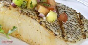 Foreman Grill Sea Bass