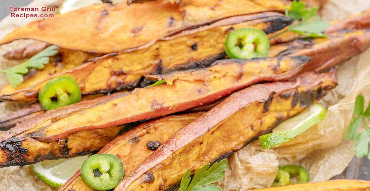Grilled Yam Fries and Fritters Recipe