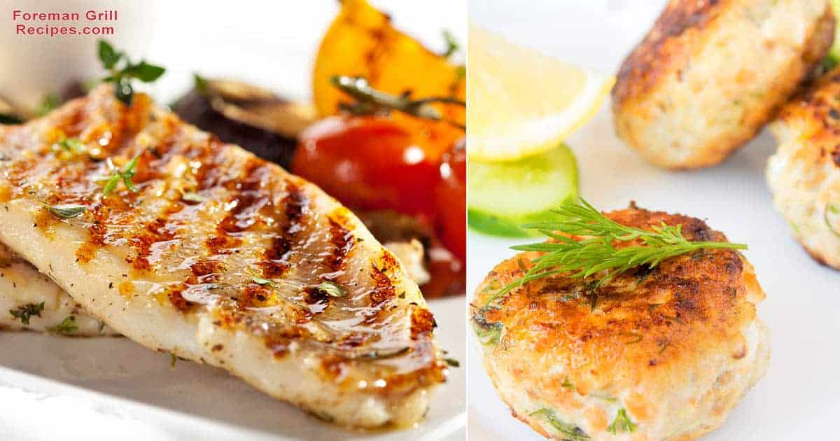 Grilled Haddock & Fish Cakes on a Foreman Grill Recipe