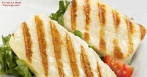 Two tasty halloumi cheese frilled recipes