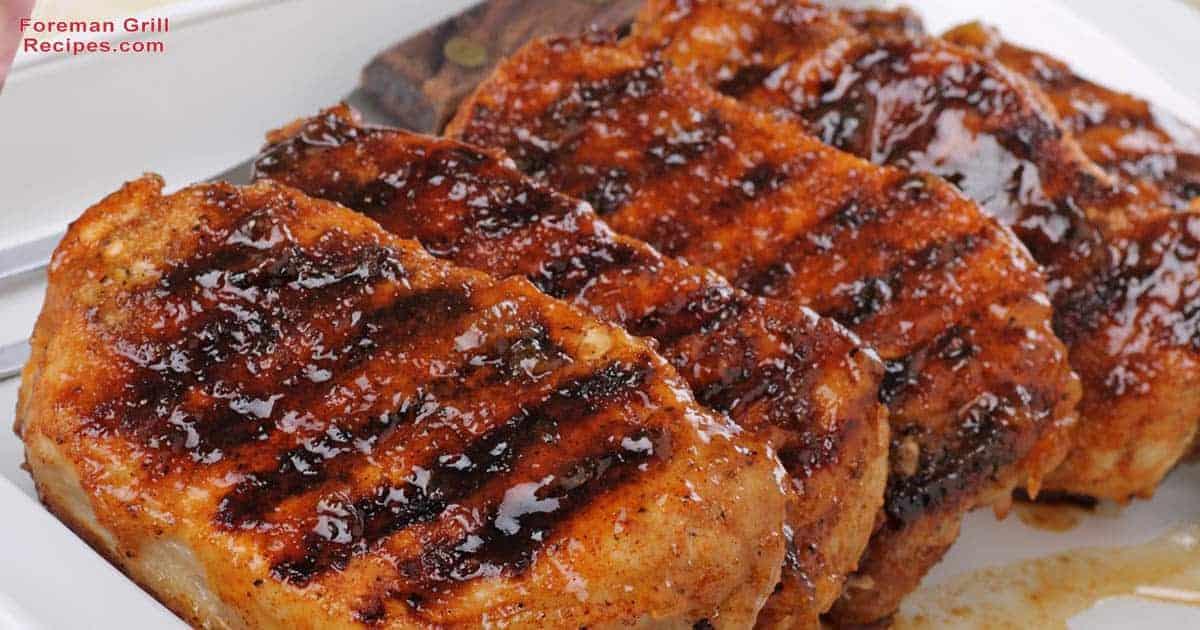 Sliced pork tenderloin foreman grill