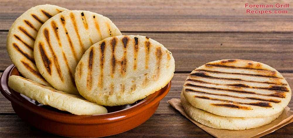Basic grilled foreman grill arepas