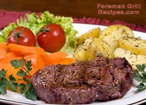 Grilled beef tenderloin in a Foreman grill