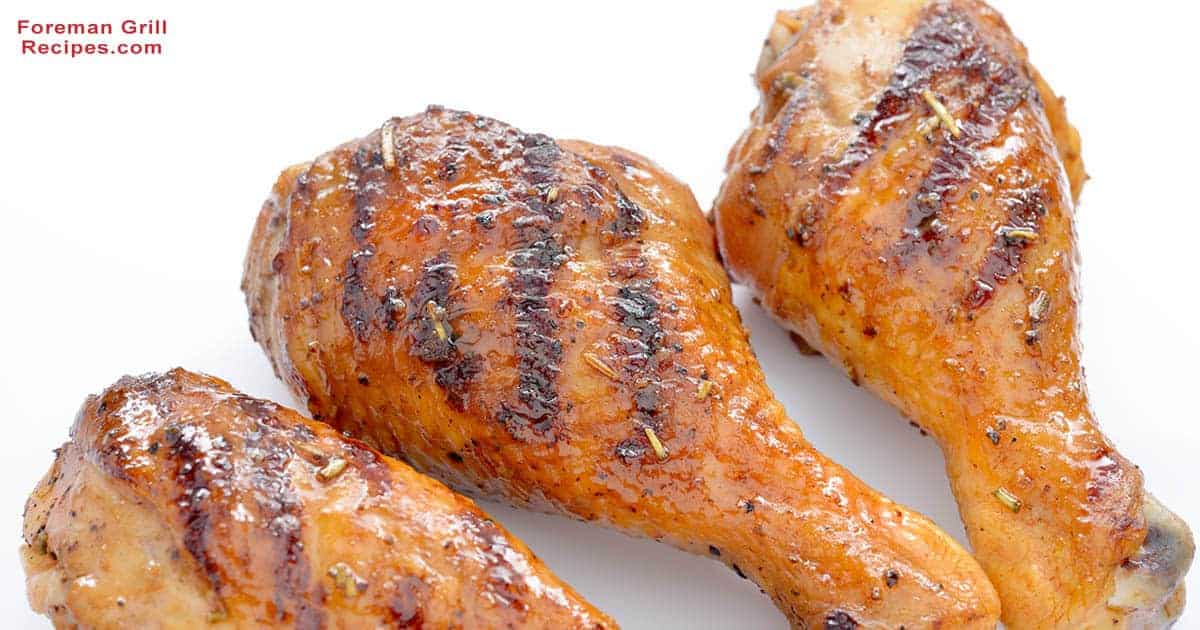 Chicken Drumsticks on a George Foreman Grill Recipe