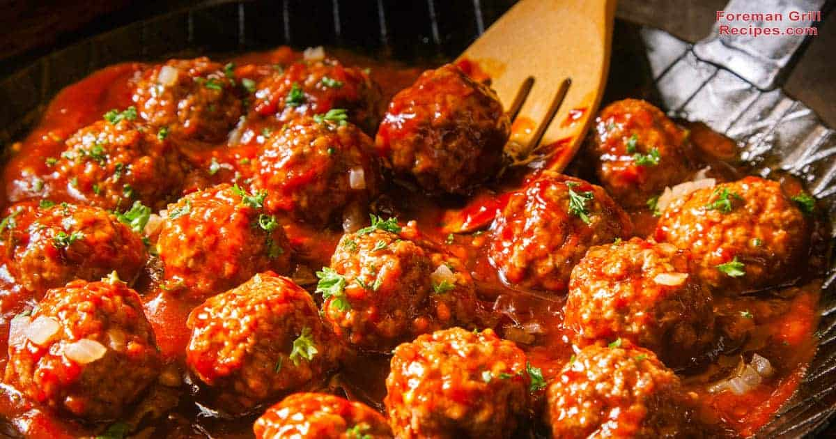 Beef or Turkey Meatballs on a Foreman Grill Recipes