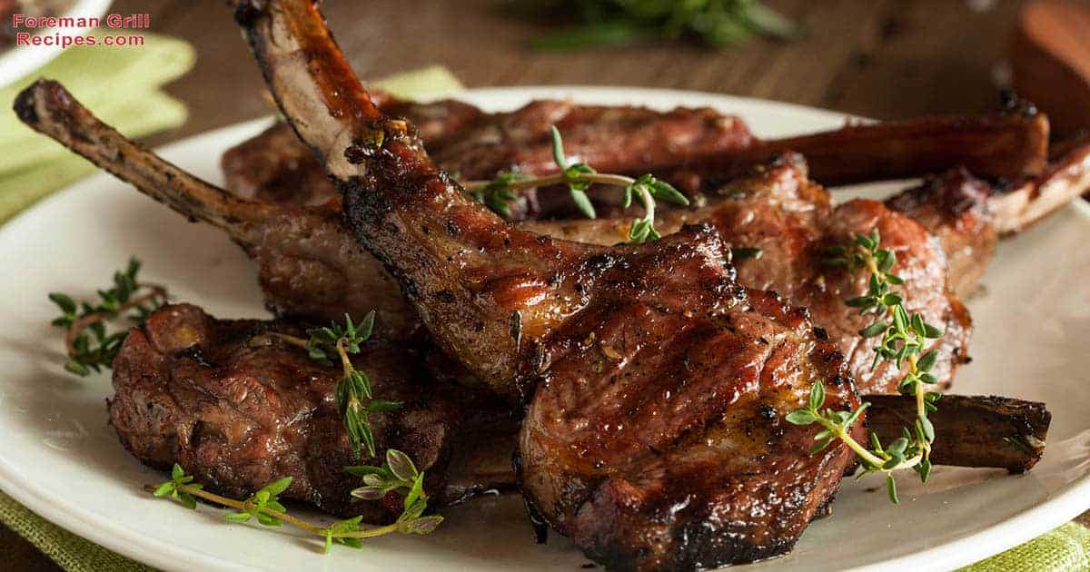 Grilled Lamb Chops with a Cucumber & Yogurt salad Recipe