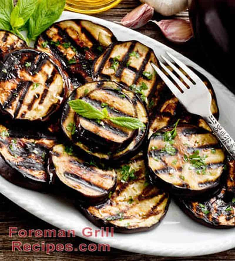 Foreman Grill Garlic Mint Eggplant Recipe
