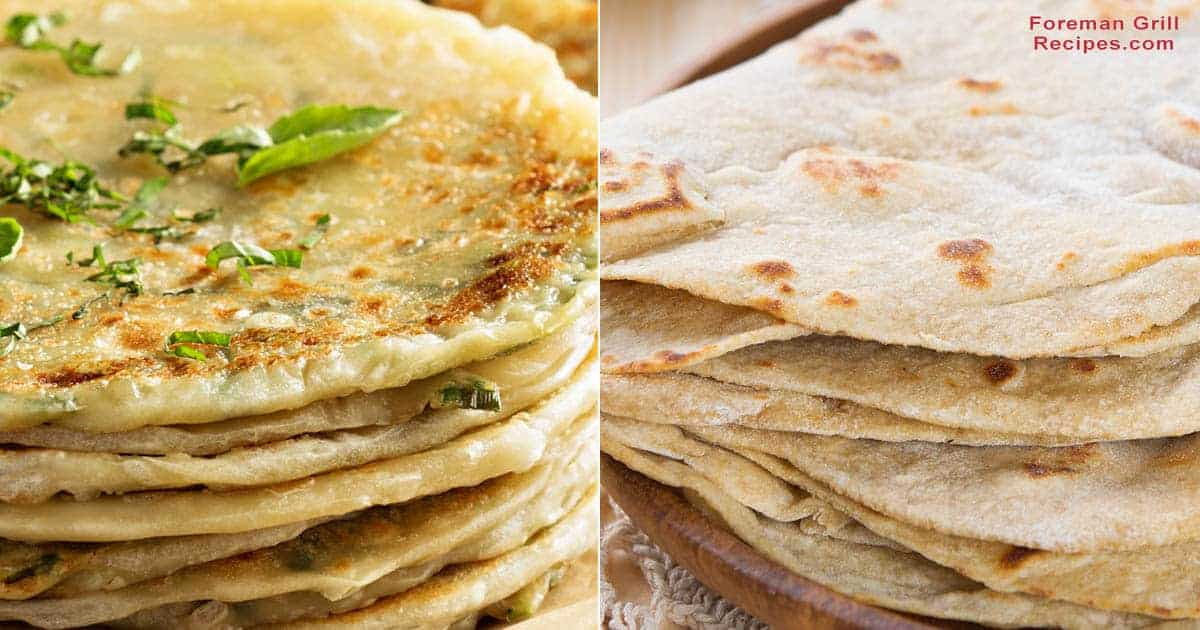 2 Grilled Flatbread Recipes on a Foreman Grill – Chapatis, and Cabbage & Green Onion Recipe