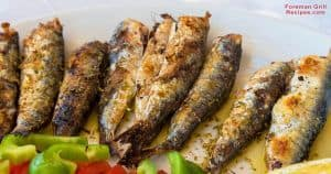 Grilled sardines on foreman grill