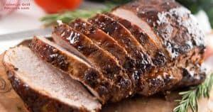 Foreman grill pork loin
