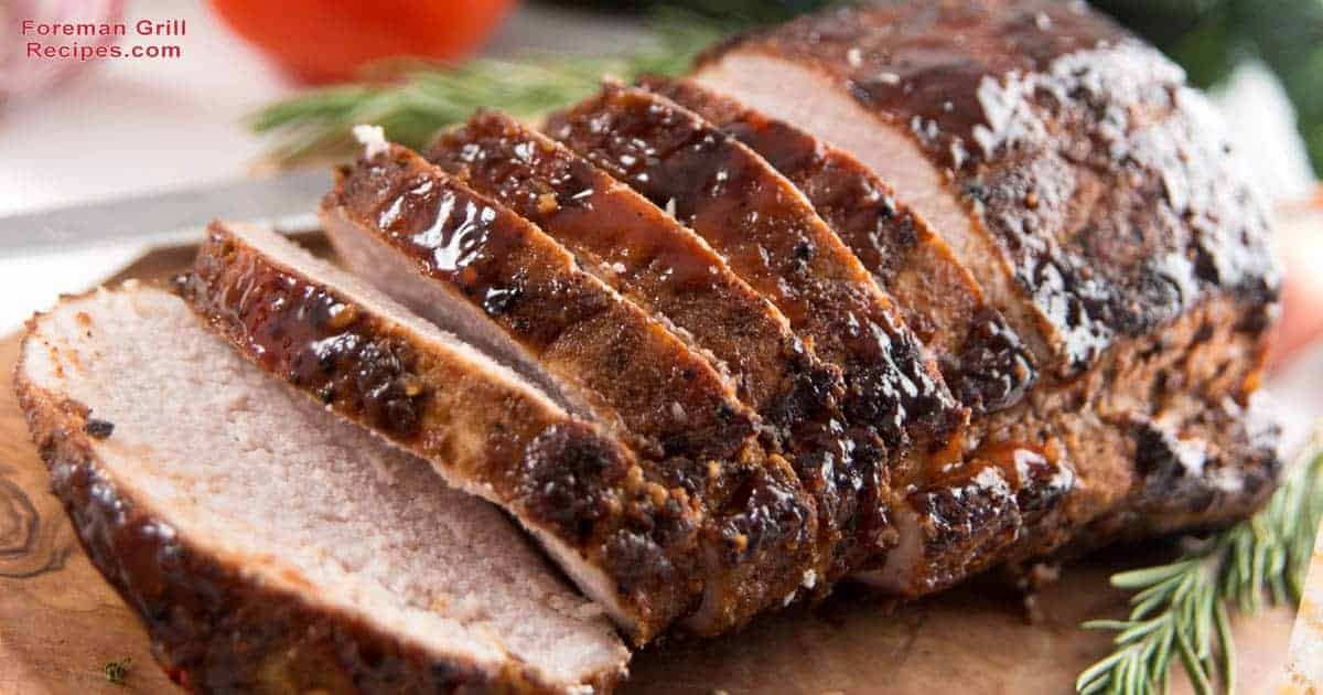 Grilled Whole Pork Loin with Honey Mustard Marinade Recipe