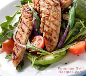 Spicy grilled chicken in a Foreman grill