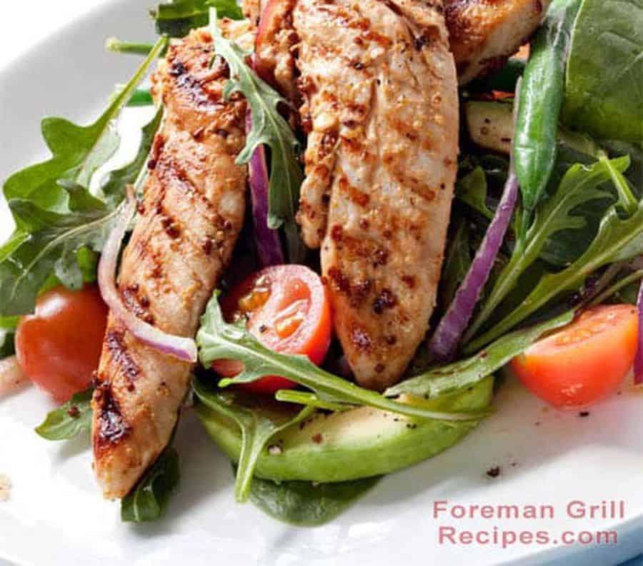 Spicy Grilled Chicken Tenderloin Salad Recipe