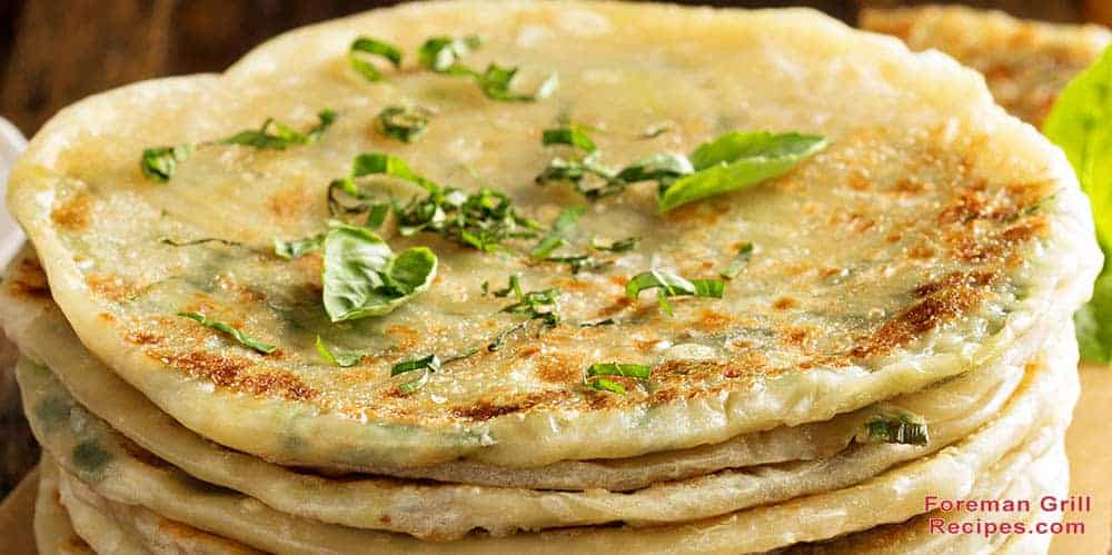 Grilled Cabbage and Green Onion Flatbreads
